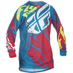 Teal/Red Kinetic Relapse Jersey - 370-429M