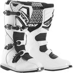 Youth White Maverik Boots - 364-56405