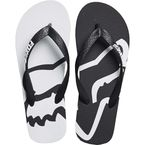 Women's Black/White Beached Flip Flops - 20174-018-8