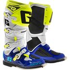 White/Blue/Neon SG-12 Boots - 2174-050-010