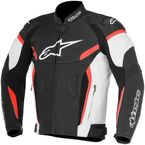 White/Black/Red GP Plus R v2 Airflow Leather Jacket - 3100617-123-58