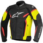Black/Yellow/Fluorescent Red GP Plus R v2 Leather Jacket - 3100517-1538-48