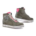 Women's Cold Gray/Fuchsia Street Ace Lady Air Shoes - 9422-GRFU-37