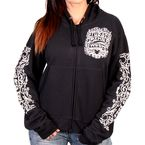 Women's Black 2017 Sturgis Chalk Angel Wings Zip Hoody - SPL4424L