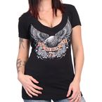 Women's Black 2017 Sturgis Upwing V-Neck T-Shirt - SPL1440L