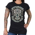 Women's Black 2017 Sturgis Antique Sugar Skull T-Shirt - SPL1420L
