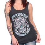 Women's Heather Charcoal 2017 Sturgis Antique Sugar Skull Tank Top - SPL2421L