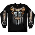 Black Crossed Pistols Long Sleeve T-Shirt - GMD2385L