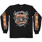Black Angry Eagle Long Sleeve T-Shirt - GMS2382L