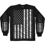 Black American Flag Long Sleeve T-Shirt - GMS2393L