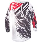 Black/White/Red Relapse Kinetic Mesh Jersey - 371-320L