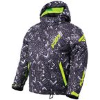 Child's Char White Track/Lime Squadron Jacket - 180403-9010-02