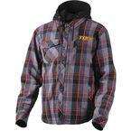 Charcoal/Orange Timber Plaid Insulated Jacket - 181107-0830-16