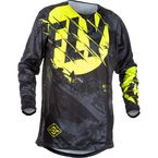 Youth Black/Hi-Vis Kinetic Outlaw Jersey - 371-520YL