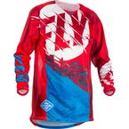 Youth Red/Blue Kinetic Outlaw Jersey - 371-522YL