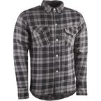 Black/Gray Marksman Riding Flannel Shirt - 489-1181M