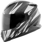 Silver/Black Cat Out'a Hell 2.0 SS1600 Helmet - 884553
