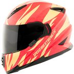 Gold/Red Cat Out'a Hell 2.0 SS1600 Helmet - 884563