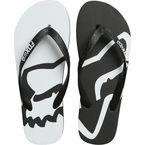 Black/White Beached Flips Flops - 22142-018-L