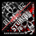 Black 2018 Sturgis Flag Skull Bandana - SPA4115