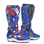 White/Blue/Flo Red Crossfire 3 SRS Boots - SID-C3S-WBFR-44