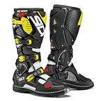 White/Black/Flo Yellow Crossfire 3 TA Boots - SID-C3T-WBFY-48