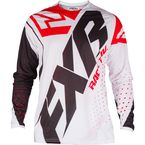 White/Black/Red Clutch Prime MX Jersey - 193301-0120-13