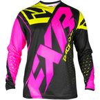 Youth Black/Elec Pink/Hi-Vis Clutch Prime MX Jersey - 193312-1094-13