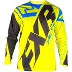 Youth Hi-Vis/Blue/Black Clutch Prime MX Jersey - 193312-6540-13
