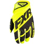 Hi-Vis/Black Clutch Strap MX Gloves - 193352-6510-13