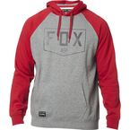 Heather Graphite Shield Raglan Pullover Hoody - 23906-185-L