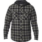 Black Avalon Hooded Flannel - 23889-001-L
