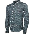 Blue/Camo Call To Arms Moto Shirt - V#1106-0408-8054