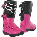 Youth Black/Pink Comp Boots - 24014-285-1