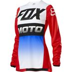 Women's Blue/Red 180 Fyce Jersey - 23963-149-L