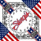 Red/White/Blue 2019 Officially Licensed Sturgis® Patriotic Bandana - SPA4117