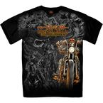 Black 2019 Officially Licensed Sturgis® Motorcycle Rally #1 Design Wild West T-Shirt - SPM1766L