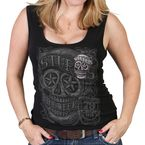 Women's Black 2019 Officially Licensed Sturgis® Motorcycle Rally Skull Banners Tank Top - SPL2620L