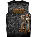 Black 2019 Officially Licensed Sturgis® Motorcycle Rally  #1 Design Wild West Shooter Sleeveless Shirt - SPM3766M