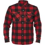 Black/Red Dropout Armored Flannel Shirt - 1106-0411-0154