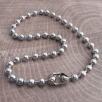 Chrome XL Ball Chain Necklace - CH9NS-22