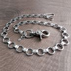Chrome Bottlecap Wallet Chain - NC138-25