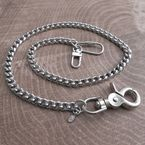 Chrome Small Laser Leash Wallet Chain - NC73-25