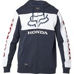Navy/White Honda Zip Fleece Hoody - 25955-045-L