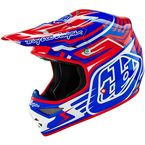 Red/Blue/White Scratch Air Helmet - 117010434