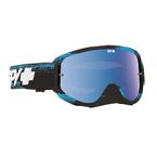 Masked Blue Woot Race Goggle w/Smoke/Light Blue Spectra Lens - 323346692974
