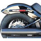 Black Rear Fender License Plate Kit - CRF-M8ST-SB-B