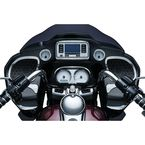 Chrome Tri-Line Speedometer & Tachometer Accent - 6926