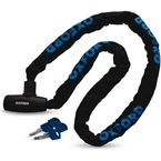 Black/Blue GP Chain & Integral Lock w/4 Keys - LK105