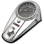 Chrome Two Light Dash Panel Kit w/2:1 Ratio Speedometer - 39-0907